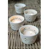 Mini svietniky Porcelain set 4ks